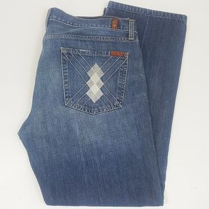 7 For All Mankind Standard Straight Leg Jeans 38